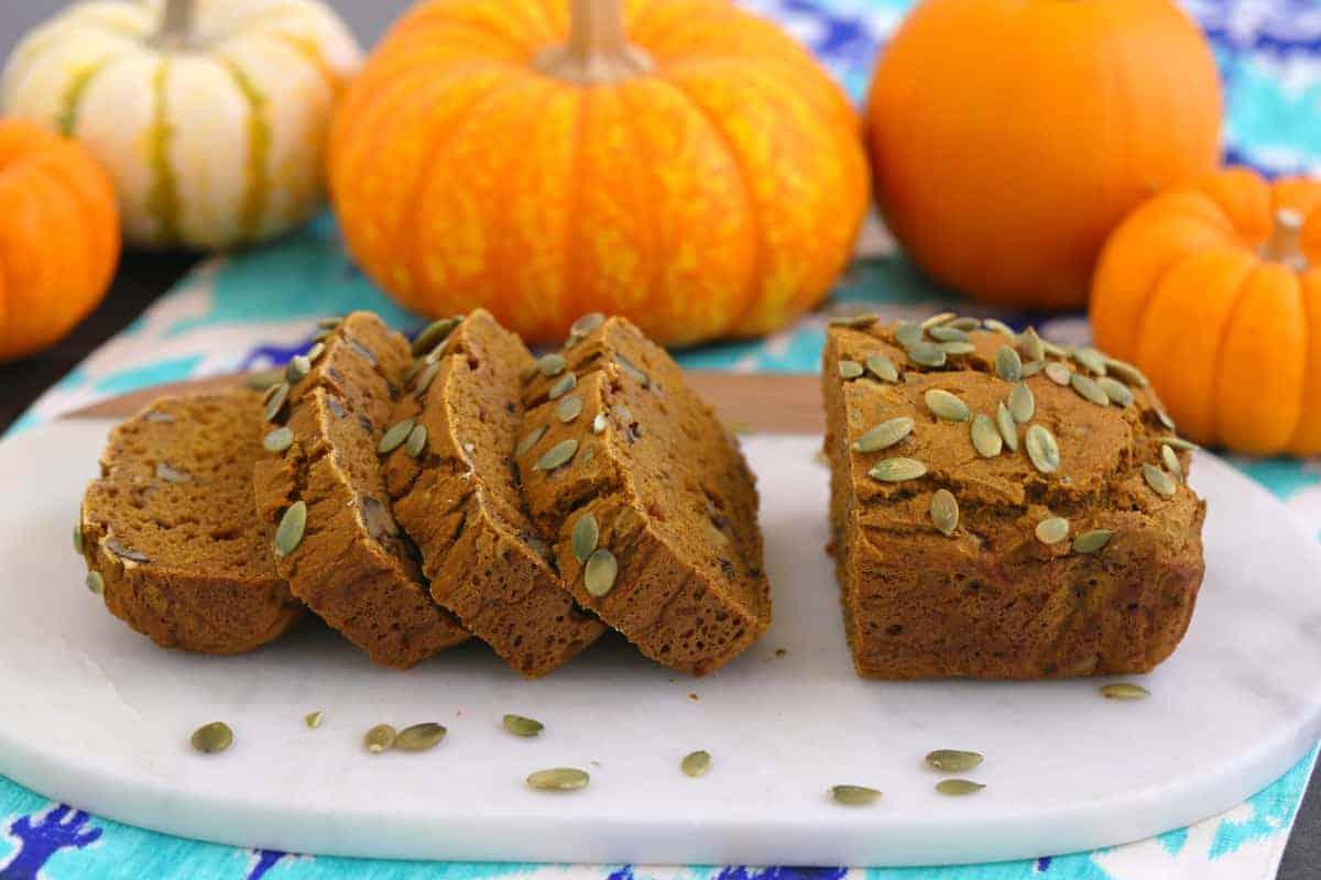 Gluten Free Pumpkin Bread with Rice Flour