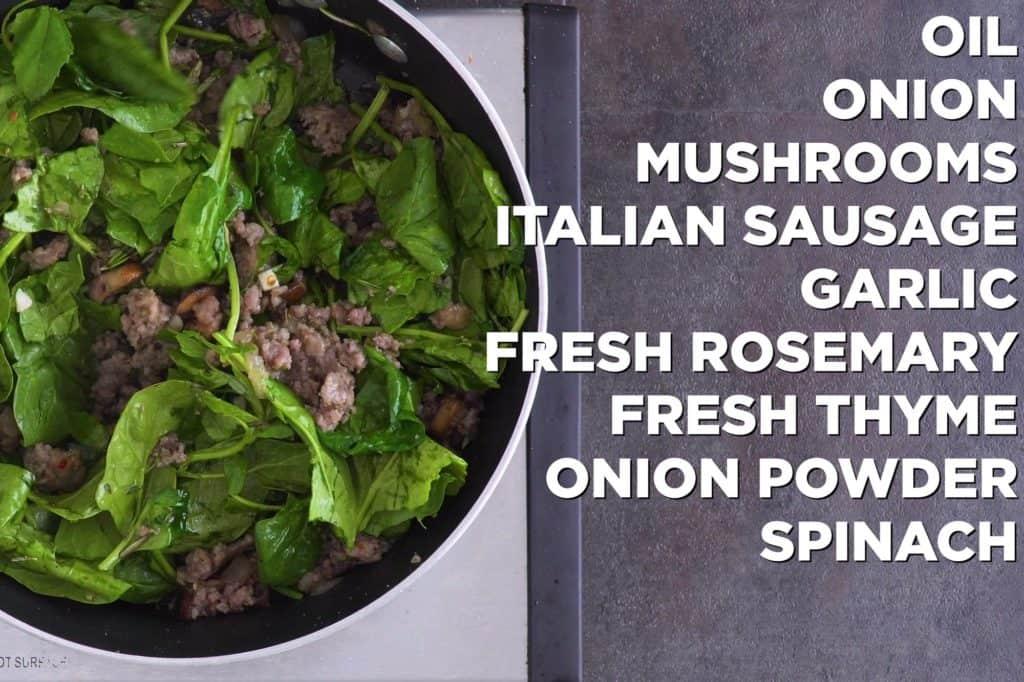 Italian sausage stuffing mixture