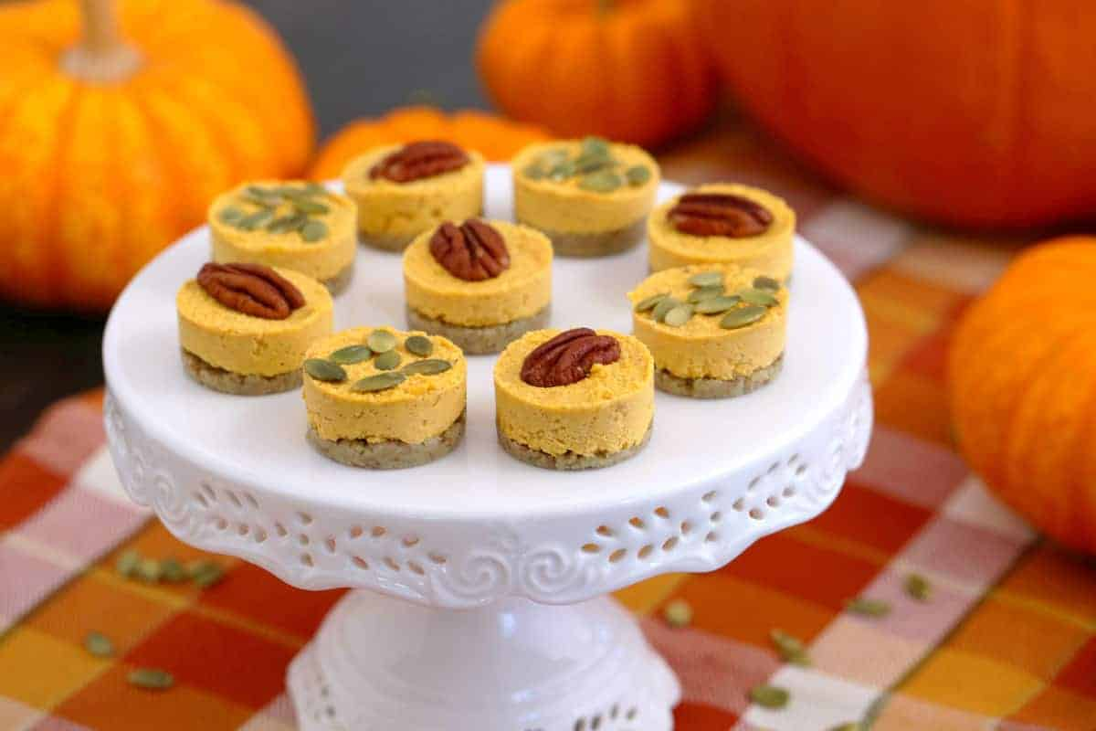 Vegan Keto Pumpkin Cheesecake Bites