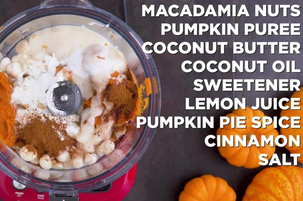 Low carb vegan pumpkin cheesecake ingredients