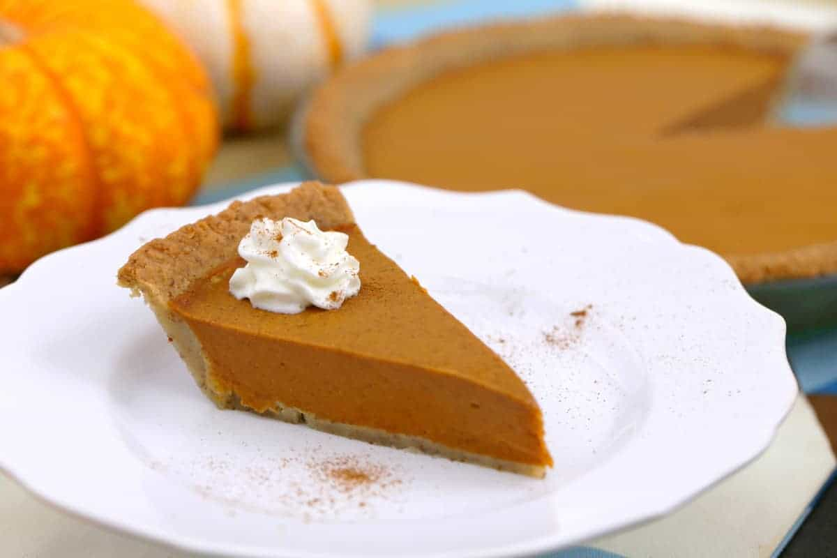 Vegan Keto Pumpkin Pie