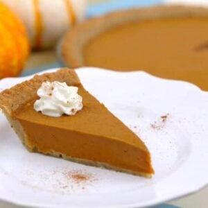 Vegan Keto Pumpkin Pie Recipe