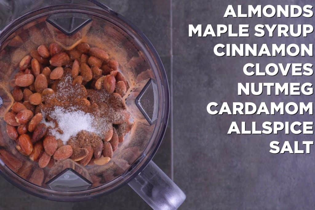 Chai Almond Butter Ingredients