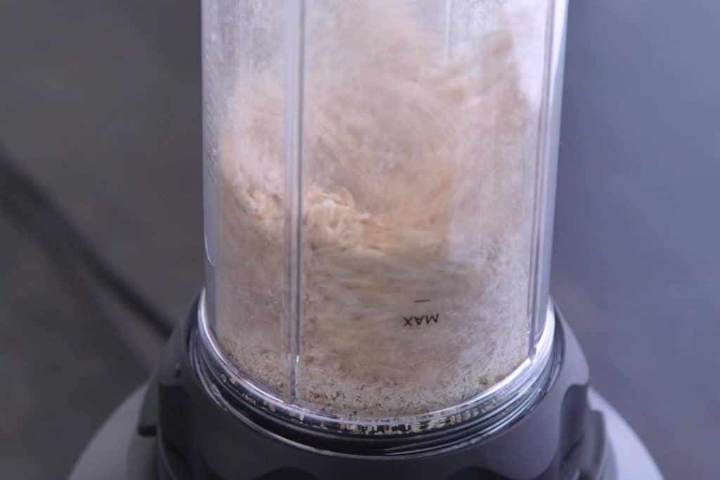 Blend oats into flour