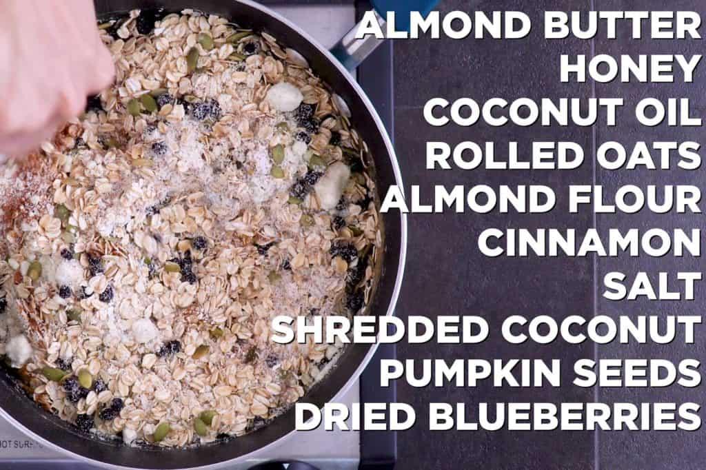 Oatmeal Breakfast Bars Ingredients