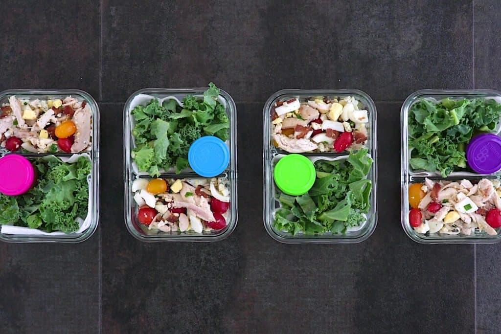 Meal Prep Keto Cobb Salad
