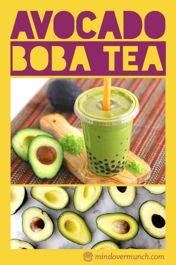 Avocado Matcha Boba Tea Recipe