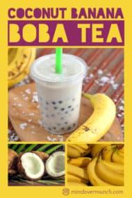 Coconut Banana Boba Tea