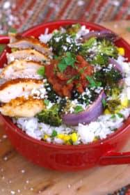 Chicken Burrito Bowl Meal Prep Dinner