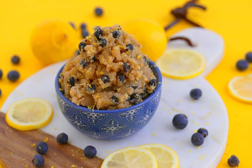 Lemon Blueberry Edible Cookie Dough