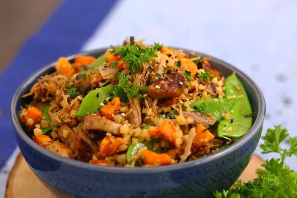 Cauliflower Fried Rice with Pork