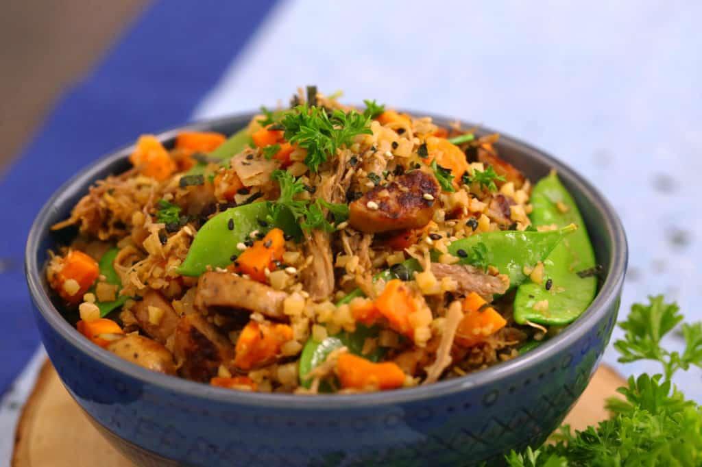 Cauliflower Fried Rice with Pork