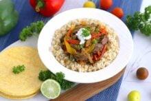 Slow Cooker Beef Fajitas