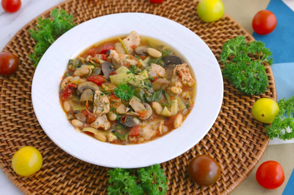 Tuscan Chicken Slow Cooker Soup