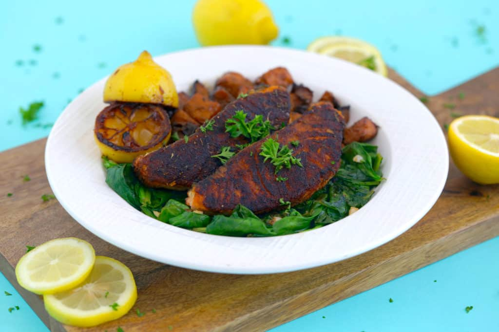 Healthy Blackened Salmon Dinner