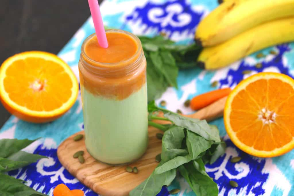 Orange Basil Immune Boosting Smoothie