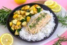Rosemary Salmon Sheet Pan Dinner