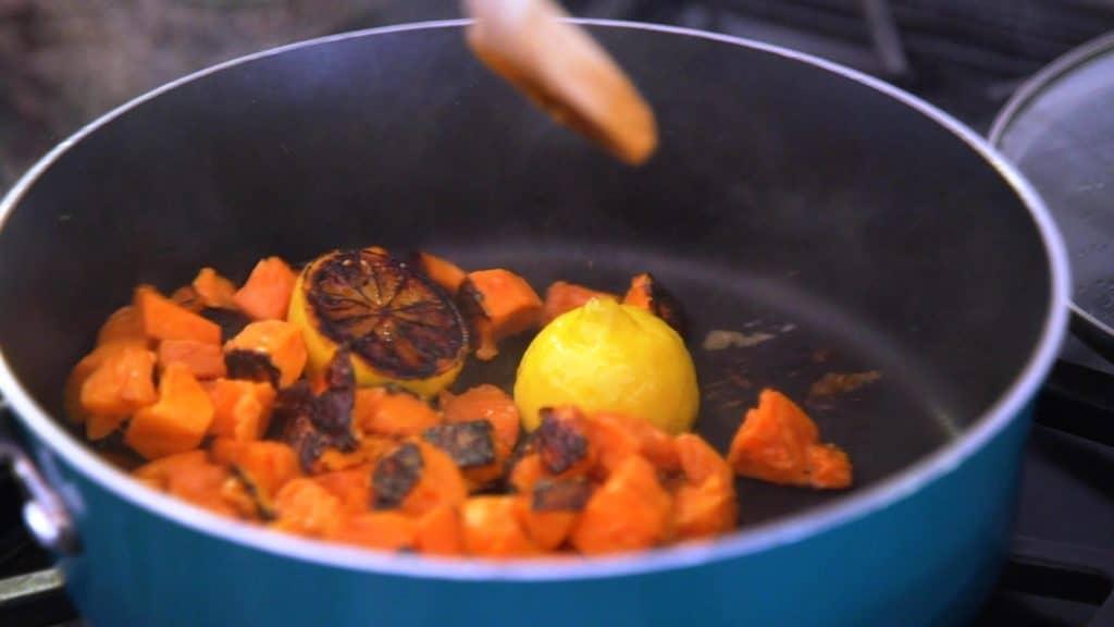 Skillet Veggies Sweet Potato