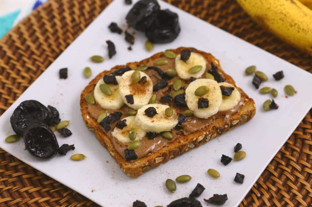 Almond Butter Toast with Prunes
