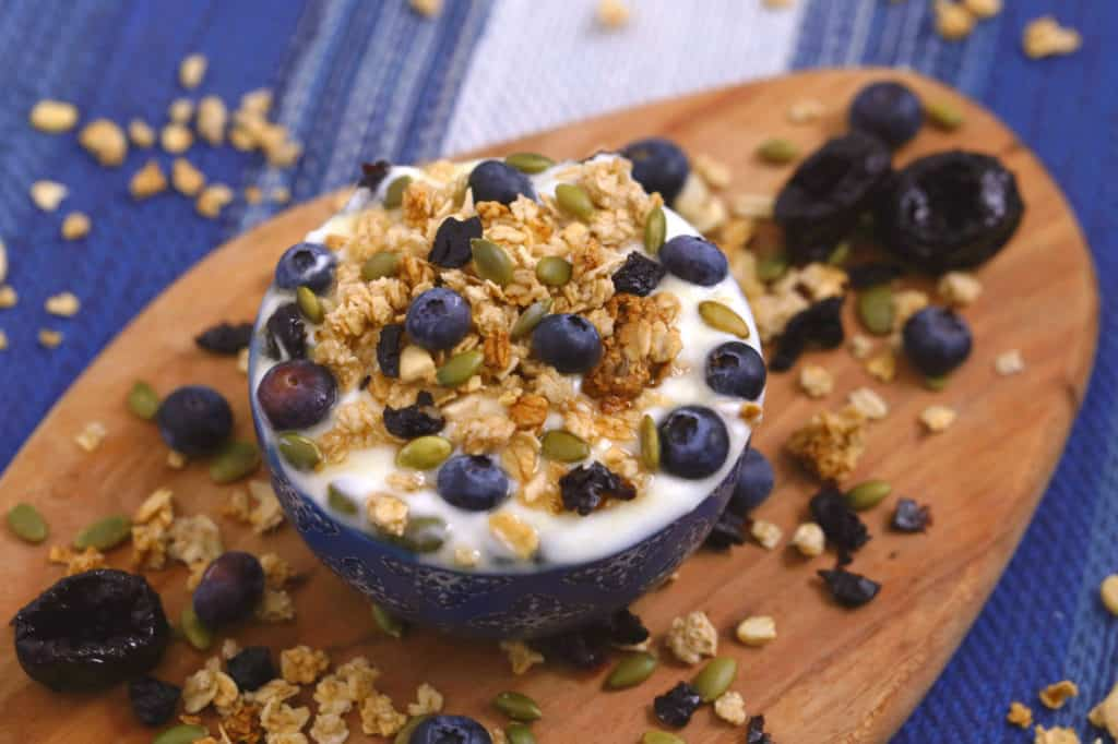 Yogurt Parfait with Prunes