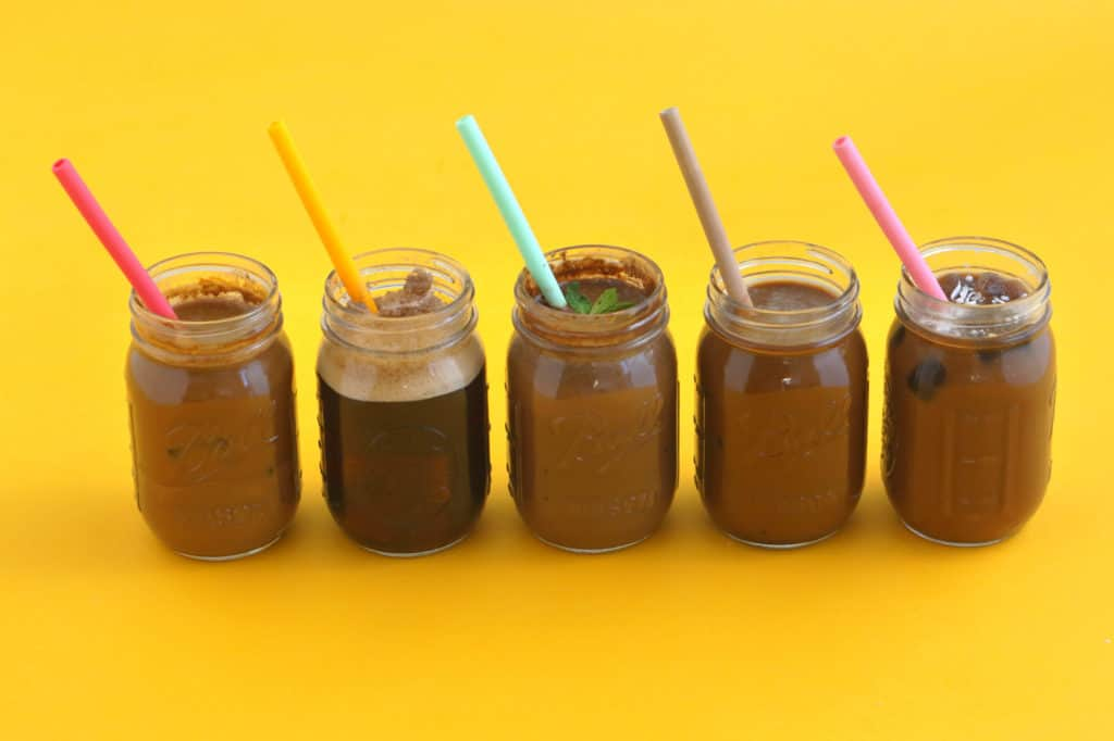 Flavored Iced Coffee Drinks