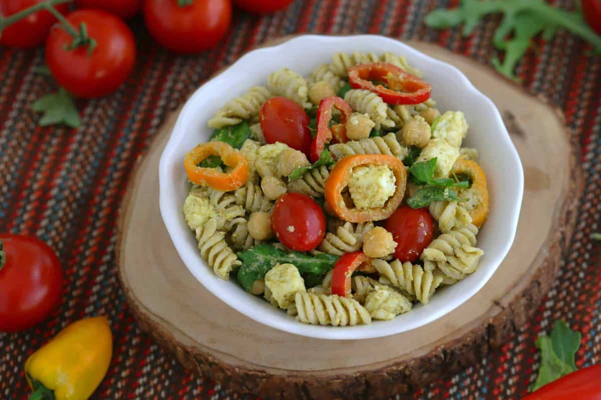 Gluten Free Pasta Salad with Pesto