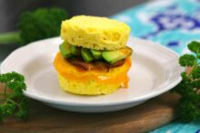 Keto Biscuit Breakfast Sandwich