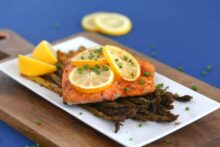 Lemon Pepper Air Fryer Salmon Recipe