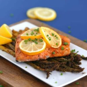 Lemon Pepper Air Fryer Salmon Recipe