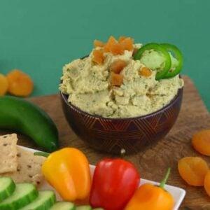 Apricot Cilantro Jalapeno Hummus