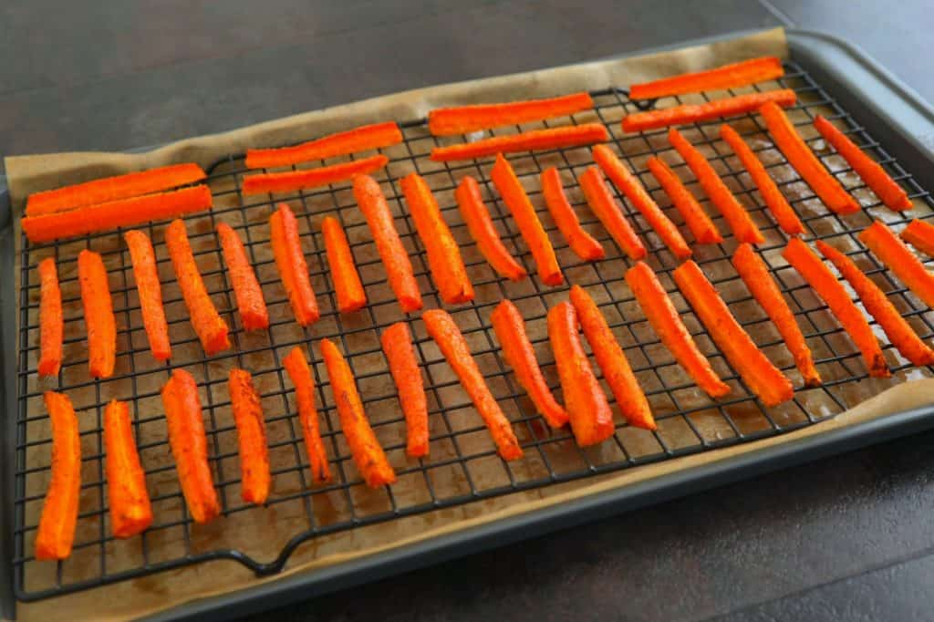 Bake on a wire baking rack for best, crispiest results