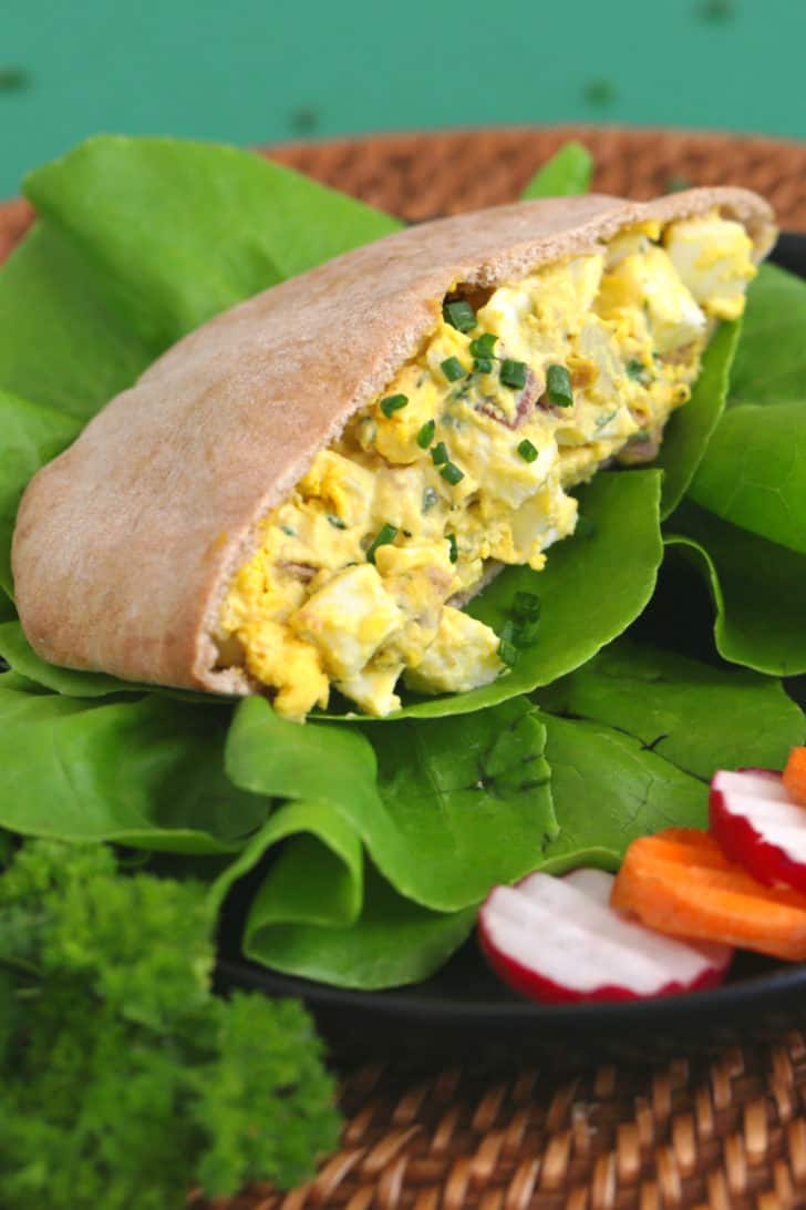 Easy Egg Salad with Bacon