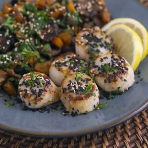 Pan Seared Scallops & Veggie Saute