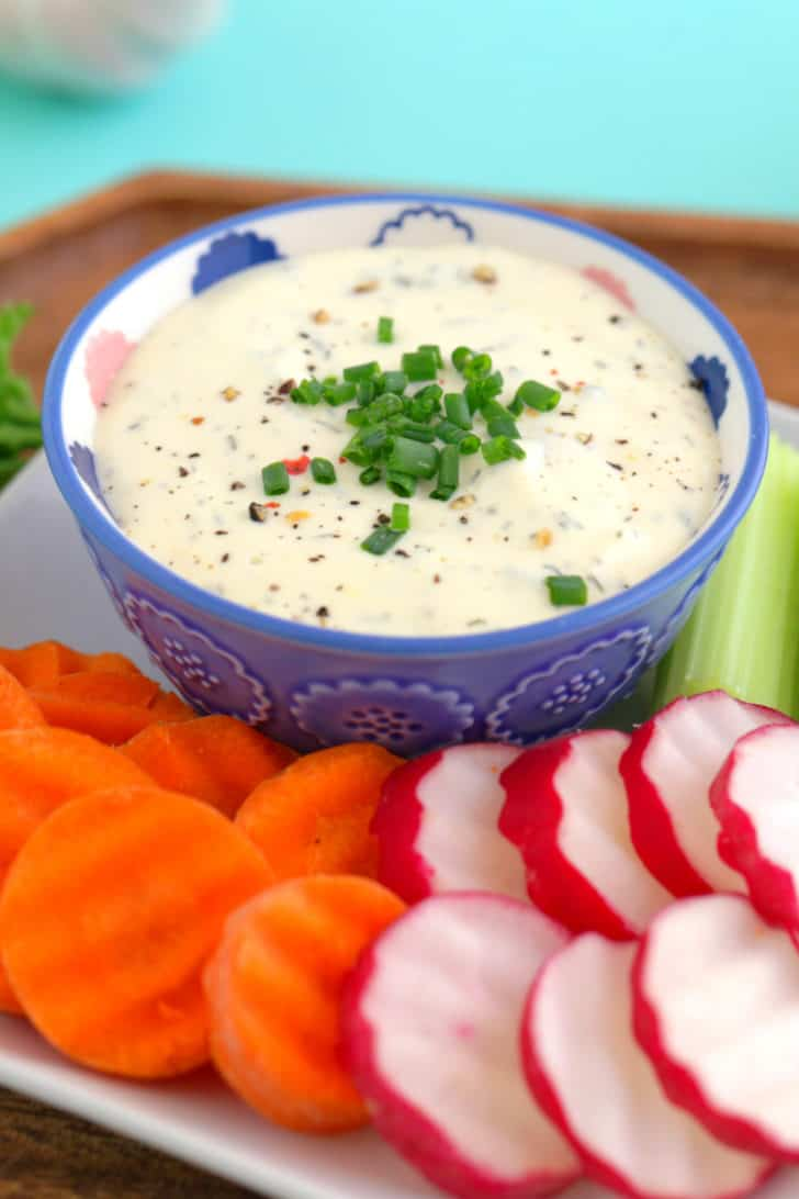 Homemade Ranch Veggie Dip Recipe