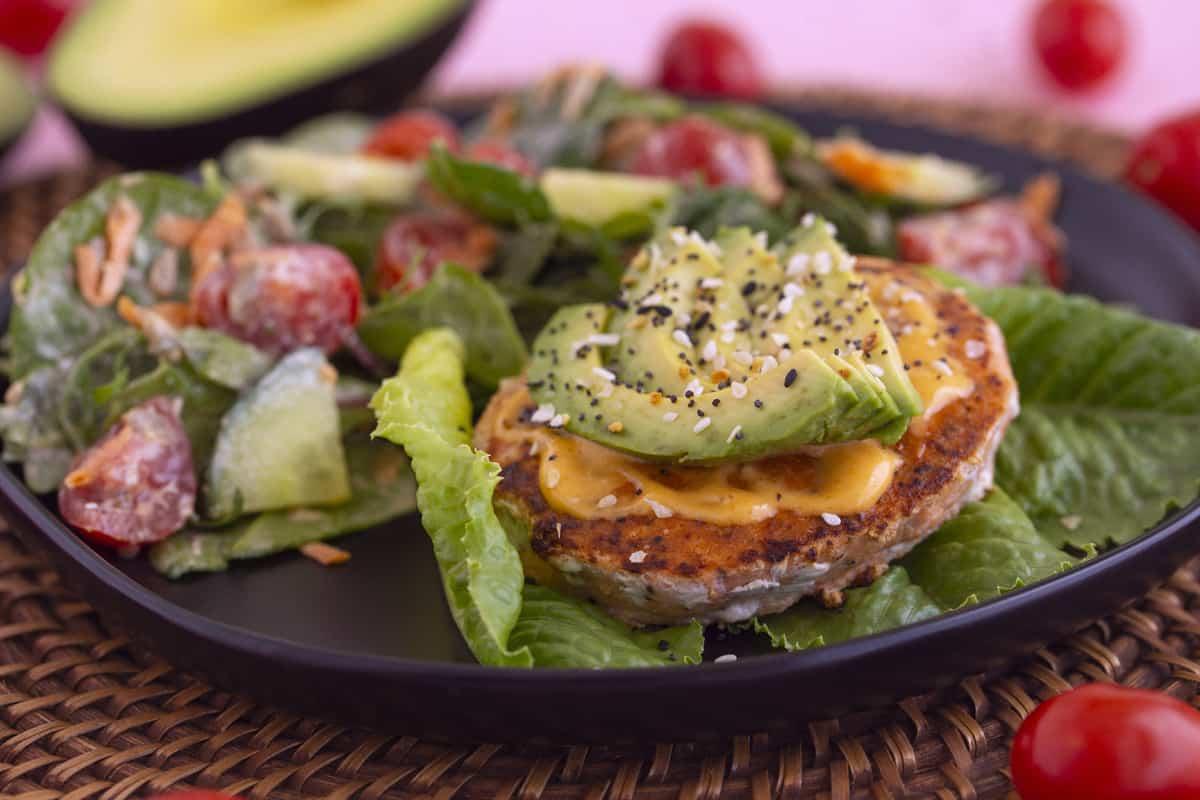 Salmon Burger Meal