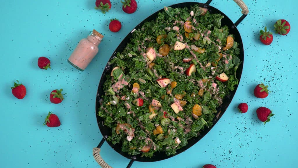 Strawberry Vinaigrette & Kale Salad