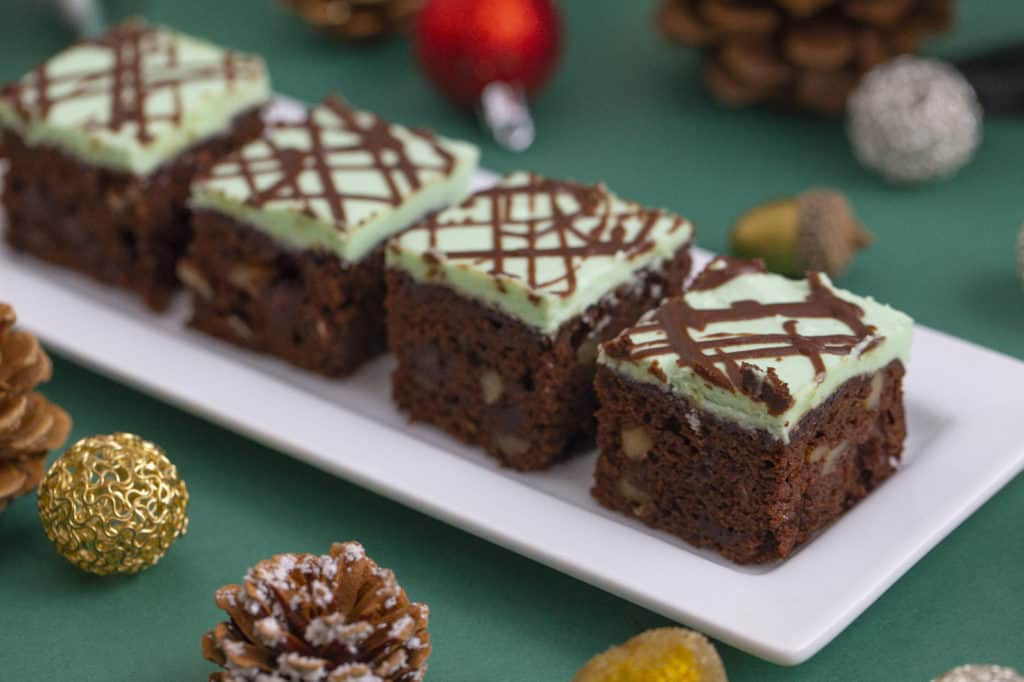 How to make mint chocolate brownies
