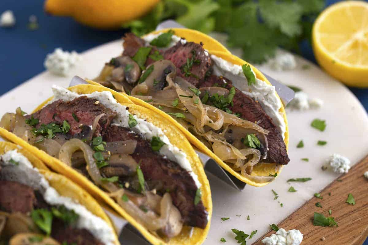 Flat Iron Steak Tacos