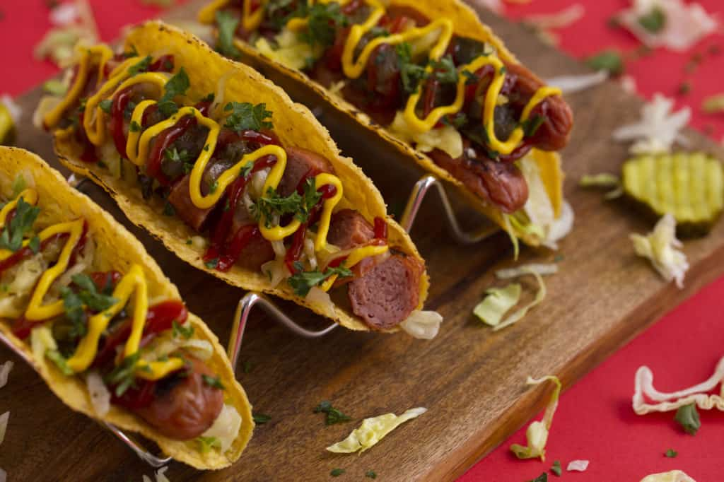 How to make a hot dog taco