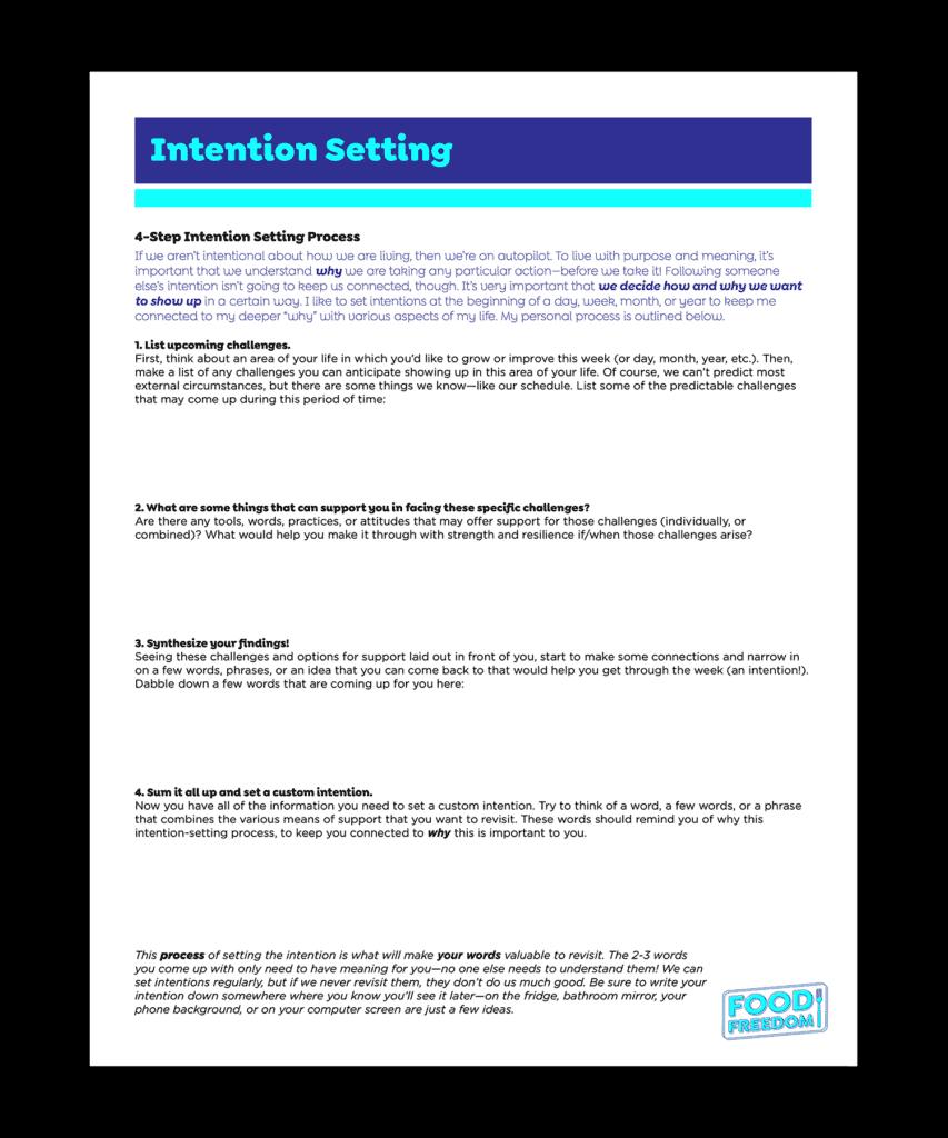 Intention Setting PDF