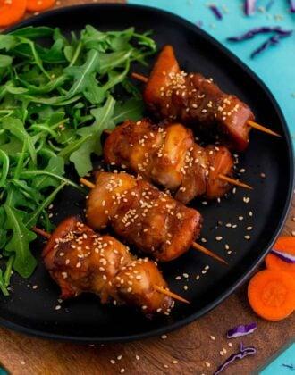 Air Fryer Teriyaki Chicken Skewers