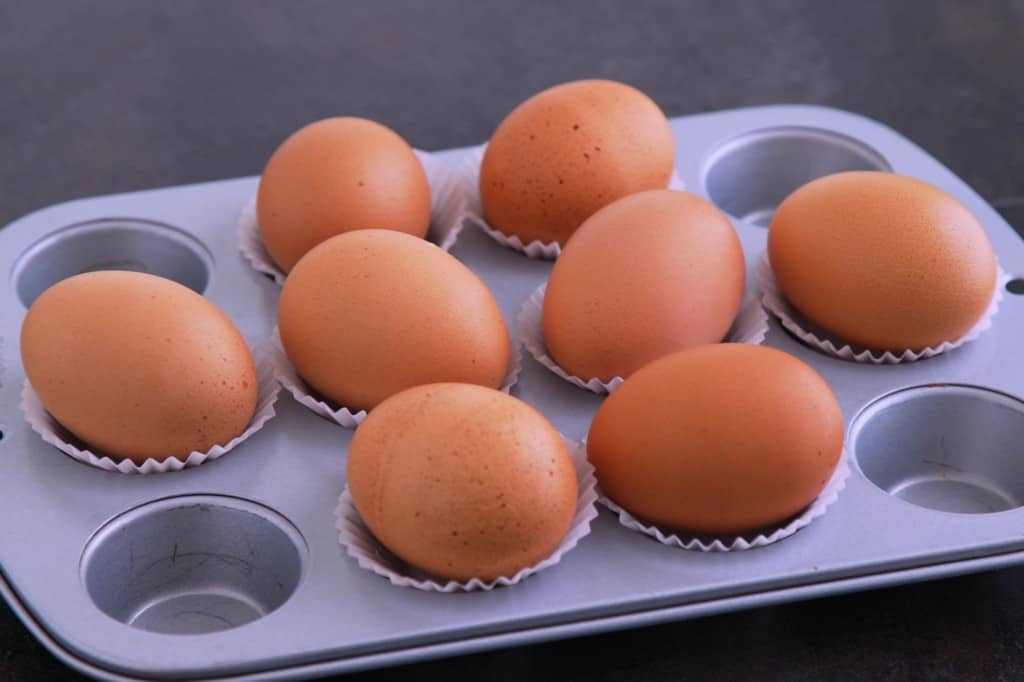 Easy Peel Baked Hard Boiled Eggs