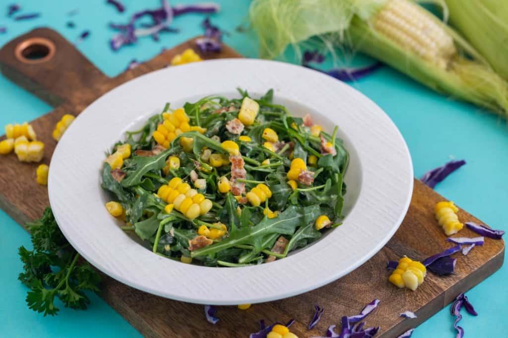 BBQ Corn Arugula Salad