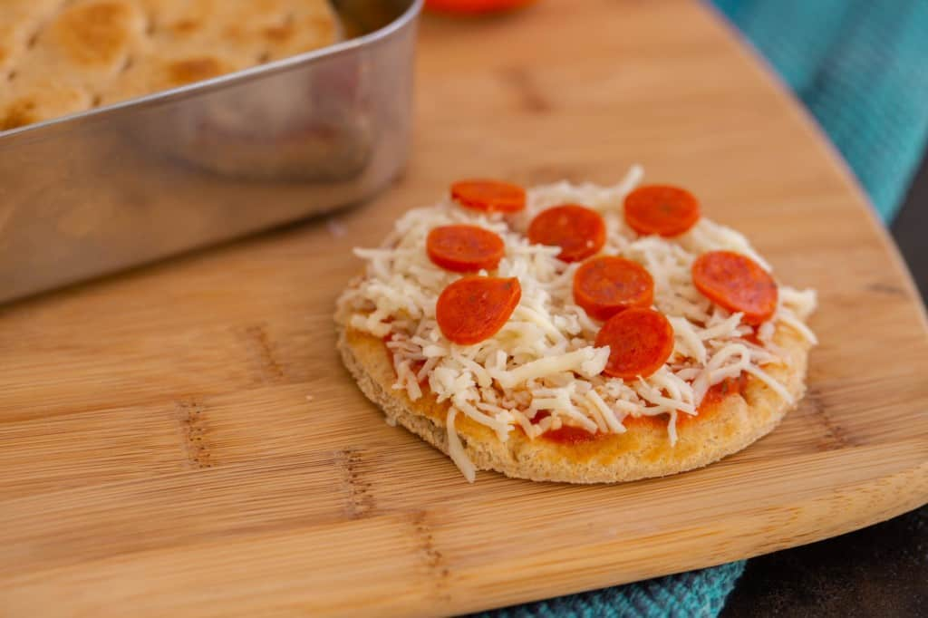 Mini cheese pizza lunchable