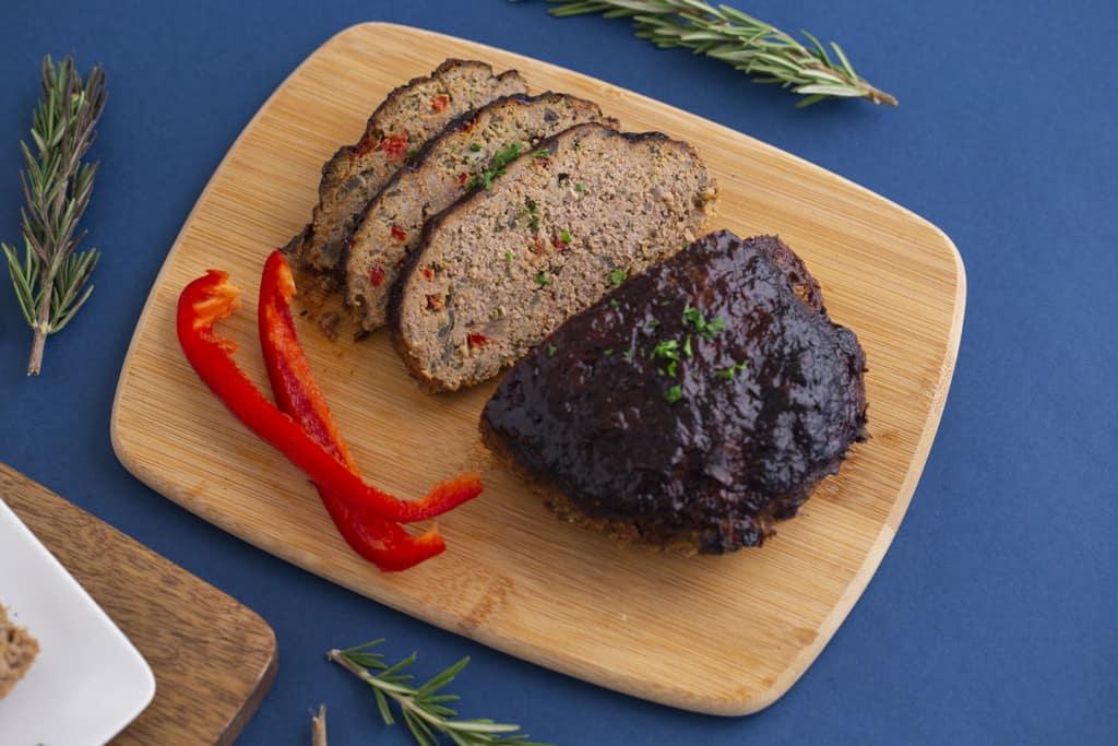Healthy meatloaf in air fryer