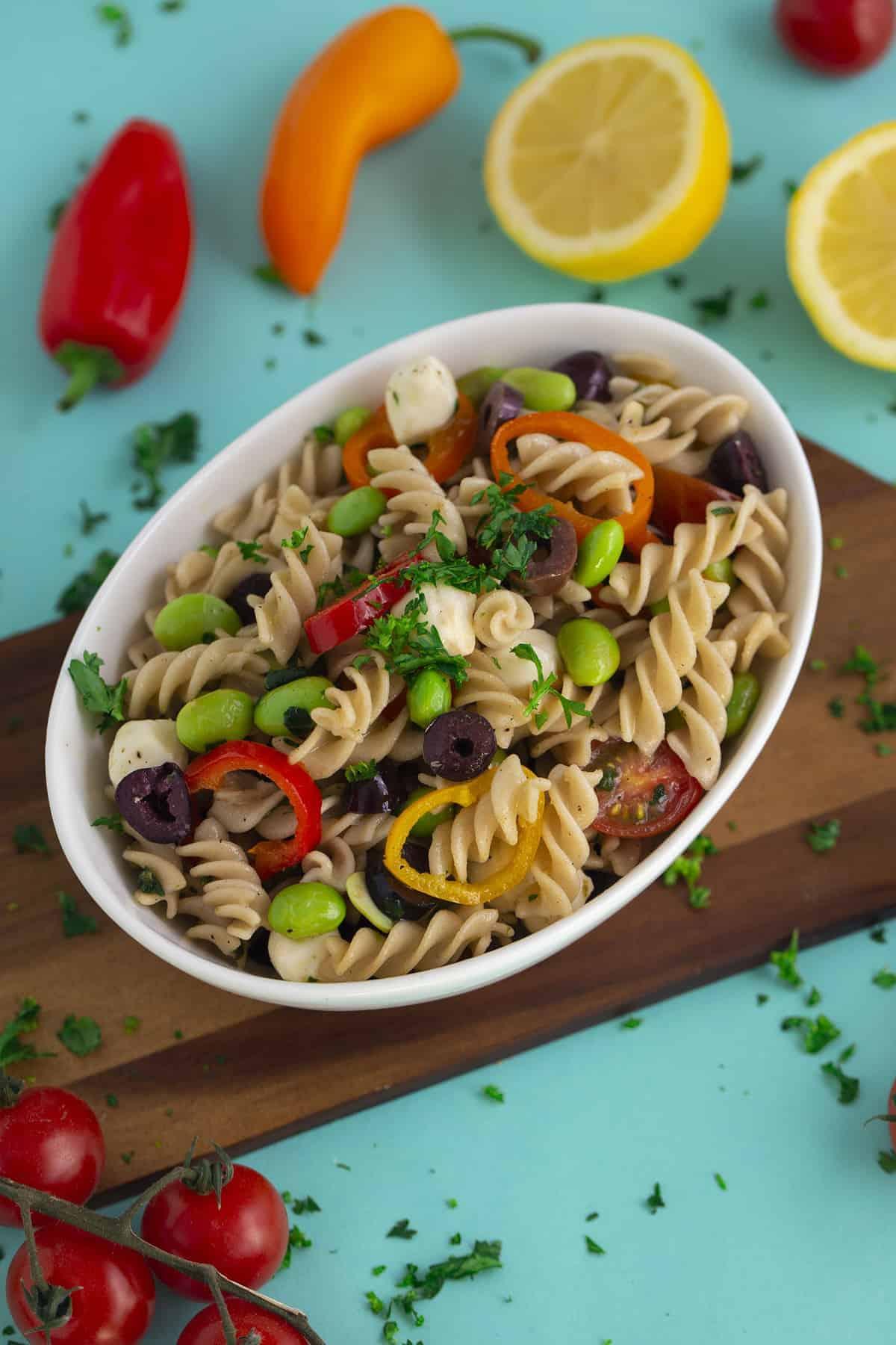 Vegetarian Gluten Free Pasta Salad