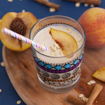 Peach Oatmeal Smoothie for Kids