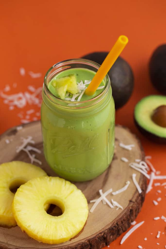 Tropical Green Smoothie for Kids