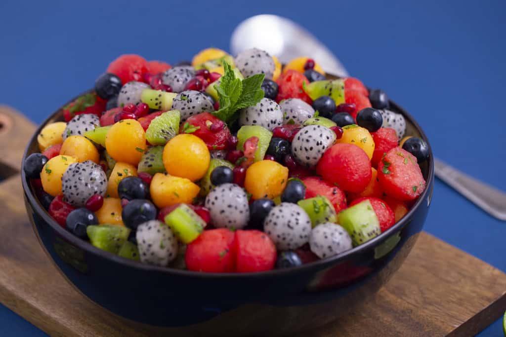 Colorful Dragon Fruit Salad