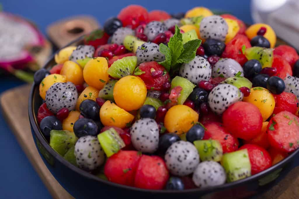 How to Make a Fruit Salad with Dragon Fruit